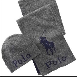 BNWT Polo Ralph Lauren Hat and Scarf set
